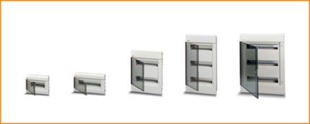 Распределительные шкафы (боксы) с прозрачной дымчатой дверцей Europa ABB