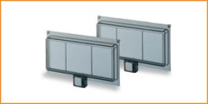 Запасные прозрачные дымчатые подпружиненные дверцы для Europa ABB