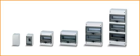 Распределительные шкафы (боксы) с прозрачной дымчатой дверцей Fly ABB
