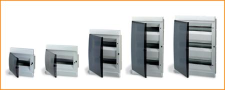 Распределительные шкафы (боксы) с прозрачной дымчатой дверцей Unibox ABB