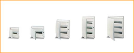 Распределительные шкафы (боксы) с непрозрачной дверцей, с клеммным блоком Unibox ABB