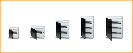 Распределительные шкафы (боксы) с прозрачной дымчатой дверцей, с клеммным блоком Unibox ABB
