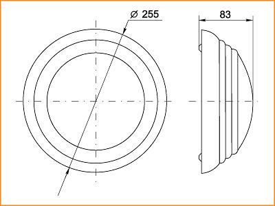 ЛПО 3019 - габаритные размеры