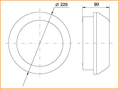 ЛПО 3041 - габаритные размеры