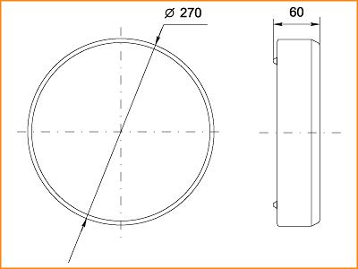 ЛПО 3025 - габаритные размеры