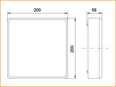 ЛПО 3026 - габаритные размеры