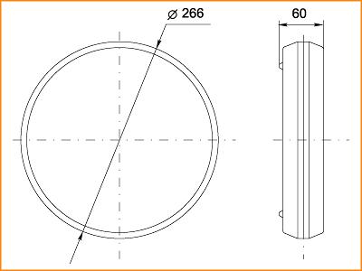 ЛПО 3051 - габаритные размеры