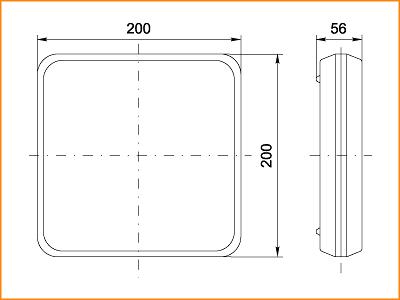 ЛПО 3052 - габаритные размеры