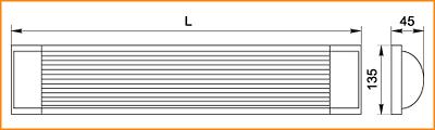 ЛПО 3017 - габаритные размеры