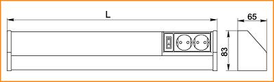 ЛПО 3020 - габаритные размеры