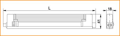 ЛПО 2004В - габаритные размеры