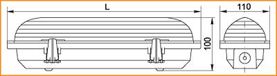 ЛСП 3901, ЛСП 3902, ЛСП 3903 - габаритные размеры