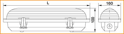 ЛСП 3901А, ЛСП 3902А, ЛСП 3903А - габаритные размеры