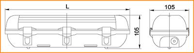 ЛСП 3904, ЛСП 3905 - габаритные размеры