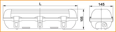 ЛСП 3904А, ЛСП 3905А - габаритные размеры