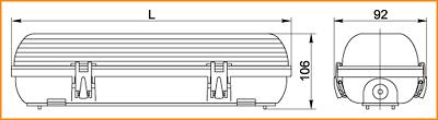 ЛСП 3907, ЛСП 3908 - габаритные размеры