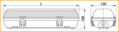 ЛСП 3907А, ЛСП 3908А - габаритные размеры