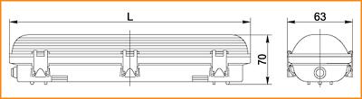 ЛСП 3909, ЛСП 3910 - габаритные размеры
