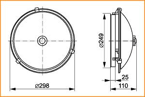 НПО 3231Д - габаритные размеры