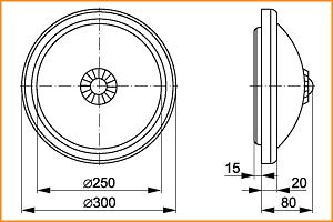 НПО 3233Д - габаритные размеры