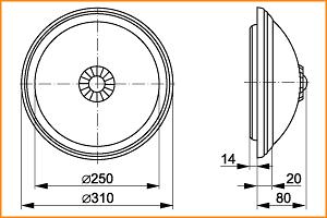 НПО 3234Д - габаритные размеры