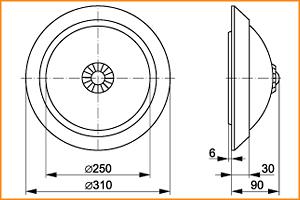 НПО 3235Д - габаритные размеры