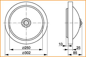 НПО 3236Д - габаритные размеры