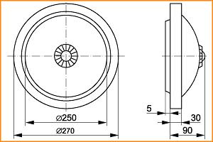 НПО 3237Д - габаритные размеры