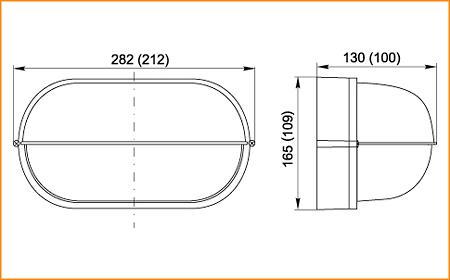 НПП 1403, НПП 1203 - габаритные размеры