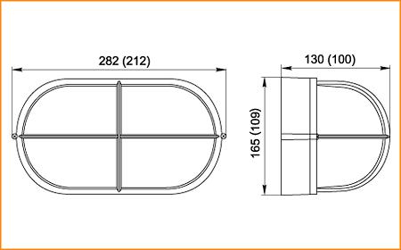 НПП 1408, НПП 1208 - габаритные размеры