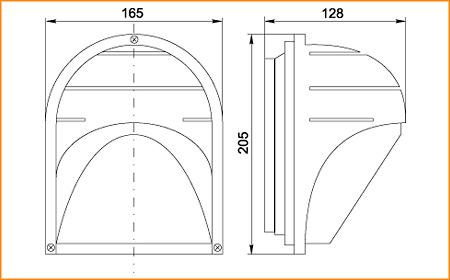 НПП 2501 - габаритные размеры