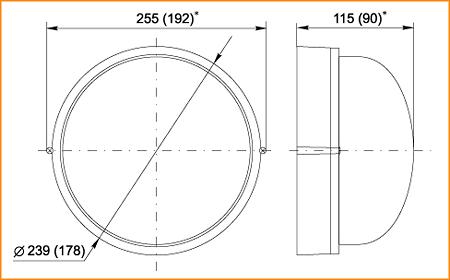 НПП 1301, НПП 1101 - габаритные размеры