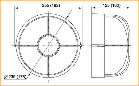 НПП 1304, НПП 1104 - габаритные размеры