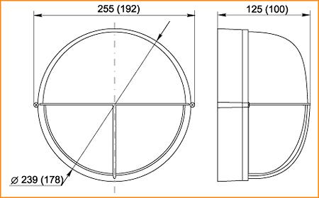 НПП 1305, НПП 1105 - габаритные размеры