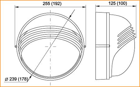НПП 1307, НПП 1107 - габаритные размеры