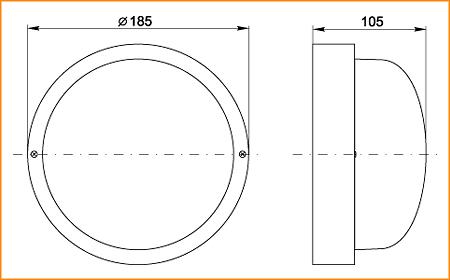 НПП 2602А - габаритные размеры