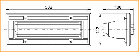 НПП 3118 - габаритные размеры