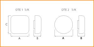 OTE 5 - габаритные размеры