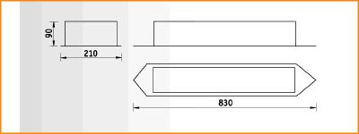 AST/R - габаритные размеры