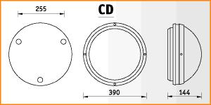 CD - габаритные размеры