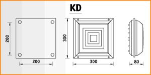 KD - габаритные размеры