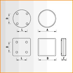 C, K - габаритные размеры