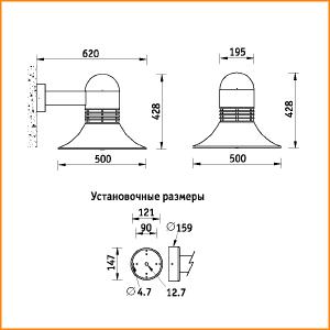NBL 11 - габаритные размеры