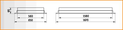 OPS - габаритные размеры