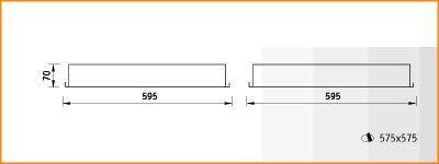 PTF/R LED - габаритные размеры