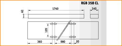 RGB 358 CL - габаритные размеры