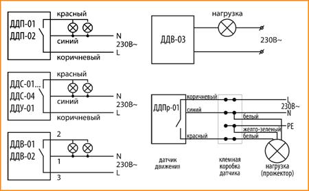 Схемы подключения датчиков