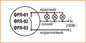Схема подключения ФРЛ TDM